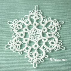 Handmade Tatting Lace Christmas Ornament Snowflake