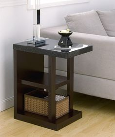 Look what I found on #zulily! Black Bernadette Accent Table by Furniture of America #zulilyfinds