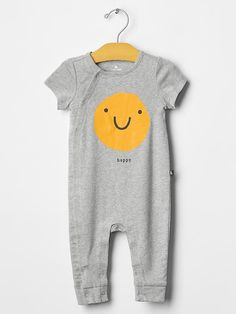 Happy face one-piece