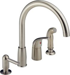 delta 11946 sssd dst bellini single handle kitchen faucet with spray