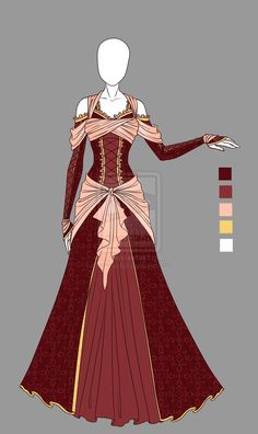 Adoptable outfit 4(closed) by LaminaNati.deviantart.com on @DeviantArt << who ever drew this, you are very talented.