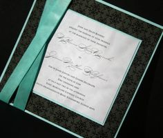 Black and tiffany blue invitations Wedding Invitation Layout, Wedding Invitations, Tiffany Blue Invitations, Wedding Inspiration, Wedding Ideas, Youre Invited, Tie The Knots, Wedding Wishes, Unique Jewelry