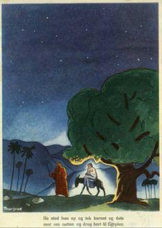 Julekort Jørgen Thorsrud religiøst motiv 1950-tallet Christmas Postcards, Norway, Painting, Art, Art Background, Painting Art, Kunst, Paintings, Performing Arts