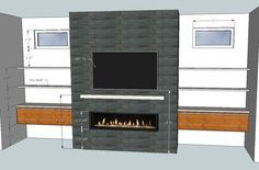 Linear Fireplace Wit