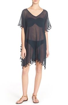 Seafolly 'Amnesia' Cotton Gauze Cover-Up Caftan available at #Nordstrom $67