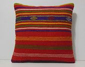 giant throw pillow 20x20 DECOLIC large euro pillow extra large couch pillow giant outdoor cushion cover orange red 15613 kilim pillow 50x50
