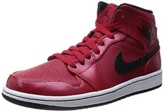 Nike Men's Air Jordan 1 Mid Basketball Shoe  http://allstarsportsfan.com/product/nike-mens-air-jordan-1-mid-basketball-shoe/  Combination full-grain leather and smooth Nubuck upper for durability with a premium feel Solid rubber cupsole with Air-Sole unit in heel for cushioning and impact protection Perforated toe for breathability