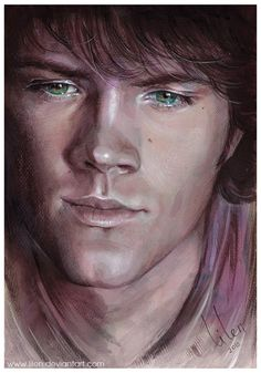 Somebody painted this?!! Amazing!! GAH!! Jared Padalecki, He's beautiful.
