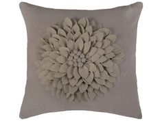 Rizzy Home Light Gray Pillow Cover