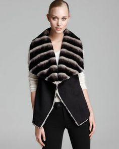 Sam Edelman Vest - Clara Suede with Faux Fur
