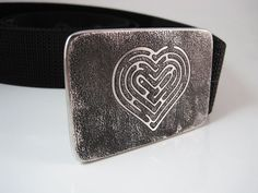 Love+Labyrinth+Belt+Buckle++Etched+Stainless+by+RhythmicMetal