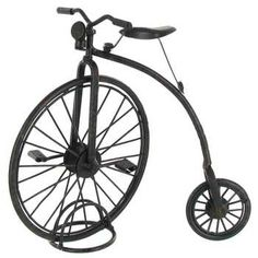 "8"" Black Metal Vintage Tricycle Spraypaint another color"