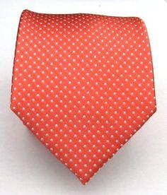 Amazon.com: 100% Silk Woven Coral Pindot Tie: Clothing