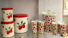 Vintage Apple Canisters (SOLD)