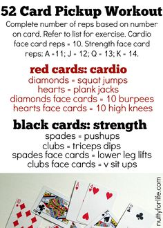 52 Card Pickup Workout [Deck of Cards Workout]