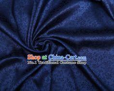 Deep Blue Chinese Traditional Dragon Brocade Fabric
