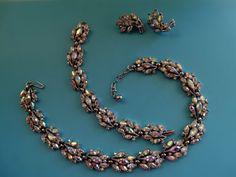 Rare dazzling Crown Trifari NecklaceBracelet & by RAKcreations