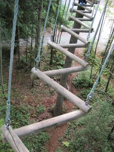 obstacle challenge pipe swinging - Google Search Kids Outdoor Play, Backyard For Kids, Outdoor Fun, Backyard Obstacle Course, Kids Obstacle Course, Natural Playground, Backyard Playground, Tree House Plans, Ropes Course