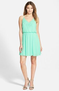 Lush+Crochet+Front+Blouson+Dress+available+at+#Nordstrom