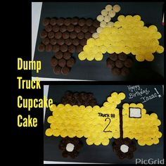 Dump Truck cupcake cake I made for my 2 year old nephew!