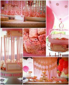 Pink Baby Sprinkle Shower Party Planning Ideas Supplies Girl