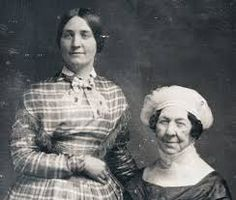 1848 Photograph of Dolley Madison & Her Niece Anna Payne. Dolly the First Lady of President James Madison.