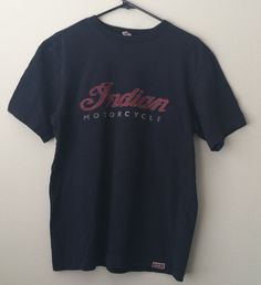 SOLD Indian Motorcycles 1990s T shirt Short Sleeve Black