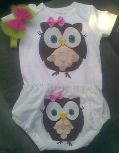 Ekk! I love owl baby stuff! http://www.etsy.com/listing/81421690/owl-onesie-with-bloomers?ref=sc_3