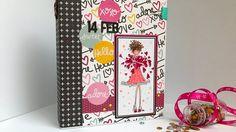 Tutorial: álbum de San Valentín con sobres de acetato y carpetas.