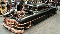 I really liked the copper plated trim on this custom. It's powered by a turbo charged Cummins. One of my favorite cars at the 2016 SEMA SHOW.
