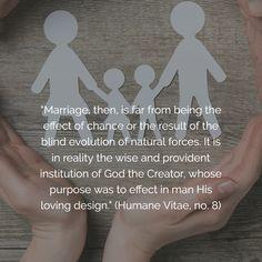 50 years ago, Pope Paul VI published Humane Vitae.  #HumanaeVitaeat50 #HV50 #HumanaeVitae Respect Life, 50 Years Ago, Evolution, Catholic, No Response, The Creator, Marriage, Self, God
