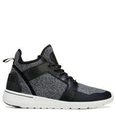 c3da211b23c594 GBX Men s Attaboy High Top Sneakers (Black Gray) Eyelet Lace