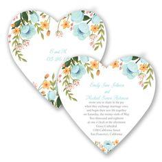 Heart-shaped floral wedding invitation - in Pool #DavidsBridal #SummerWedding #WeddingInvitations http://www.invitationsbydavidsbridal.com/Wedding-Invitations/Heart-Invitations/2947-DB34777POL-Sweetheart-Floral--Pool--Invitation.pro?pvc=&spc=WHMT1105.75X5.75DC&sSource=Pinterest&kw=SummeBreeze_DB34777POL