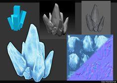 3D ice modeling, Chriss Wong on ArtStation at https://www.artstation.com/artwork/oJXO4