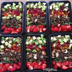 "If you don't like cooking every day, meal prep is boss for staying on track. Every time you go into your fridge it's like a ""omg someone already made me food oh wait that someone was me"" party.  These are Quinoa Cleanse Bowls from the #28DayJumpstart eBook from @fitgirldana's kitchen. www.fitgirls.com"