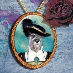 Schnauzer Jewelry - Pendant - Brooch – Necklace – Dog Jewelry – Dog Pendant – Dog Brooch – Dog Custom Jewelry By Nobility Dogs