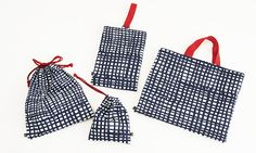 1mで作れる入園グッズ4点セット:madomado/ネイビー Japanese Bag, Japanese Sewing, Love Craft, Small Leather Goods, Artisanal, Purses And Bags, Pouch, Reusable Tote Bags, Fabric