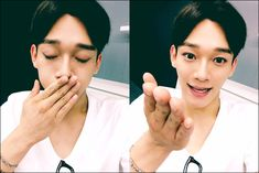 "150729 EXO-L Web Update [From. CHEN] ""Good night~~ Let's we fighting for tomorrow too!!♡"""