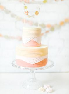 pretty colors on this wedding cake