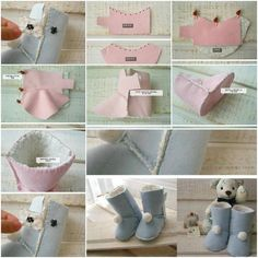 How to design and sew Kids Ugg Boots step by step DIY tutorial instructions | How To Instructions