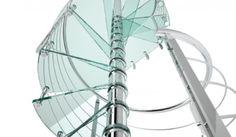Scale a chiocciola, vetro, acciaio inox - Reflex Glass Alfa Scale