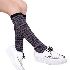 """Voberry Fashion Women Winter Warmer Sock Soft Cotton Crochet Legging Socks (Black). Material:Cotton Blend, Size:About 35CM/13.8"""". tem can keep warming, protect your legs. 100% Brand New And High Quality. The necessary accessory for the winter season when you go outside. It is very warm and the design is keep up with the fashion."""