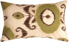 The Pillow Decor decorative throw pillow collection includes the Bold Green Ikat Throw Pillow Brown Throw Pillows, Beige Pillows, Weaving Process, Colorful Pillows, Pillow Sale, Ikat, Pillow Inserts, Decorative Throw Pillows, Shower Doors