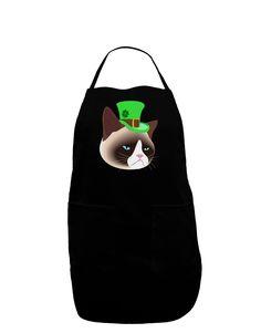 TooLoud Leprechaun Disgruntled Cat Dark Adult Apron