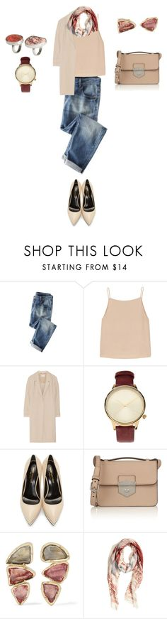 """Untitled #602"" by elenekhurtsilava ❤ liked on Polyvore featuring Wrap, T By Alexander Wang, Jason Wu, Komono, Yves Saint Laurent, Alexander McQueen, BROOKE GREGSON and H&M"