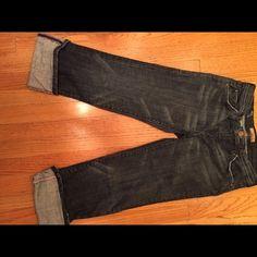 Denim capris Didn't caprice stitched in pink Jeans