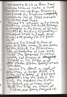 Poems: drowning without regrets (scanned notebook)
