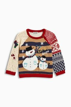 Buy Red Fairisle Pattern Christmas Jumper from the Next UK online shop Next Christmas Jumpers, Christmas Jumper Day, Xmas Jumpers, Christmas Knitting, Christmas Baby, Christmas Sweaters, Funny Christmas, Handmade Christmas, Top Gifts
