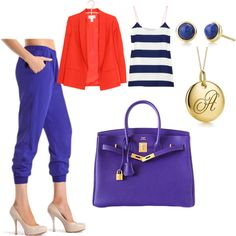 Royal blue, created by alessacerrud on Polyvore