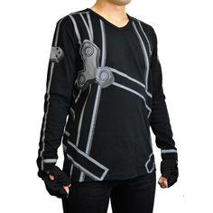 """Dopest shirt. Not gonna lie. /// """"Sword Art Online"""" Kirito Long Sleeve T-shirt (M Size) #Otacute"""